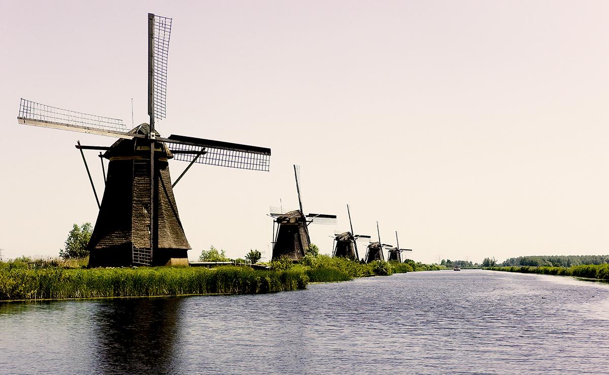 De molens bij Kinderdijk