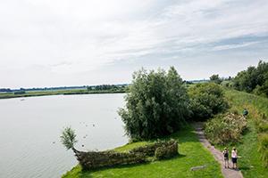 Wandelaars in het hoogheemraadschap van Rijnland