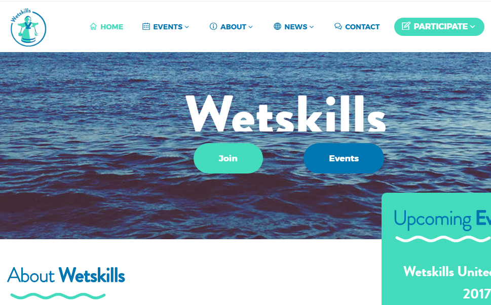 Screenshot van Wetskills-website