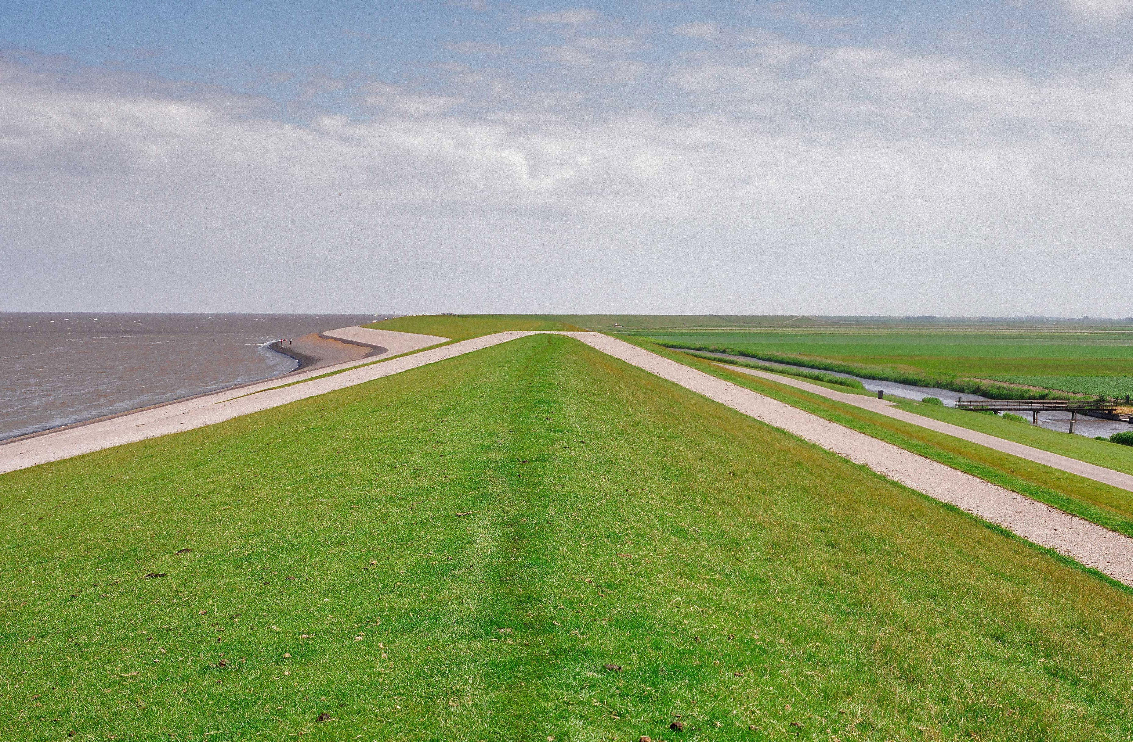 Waddendijk in Friesland