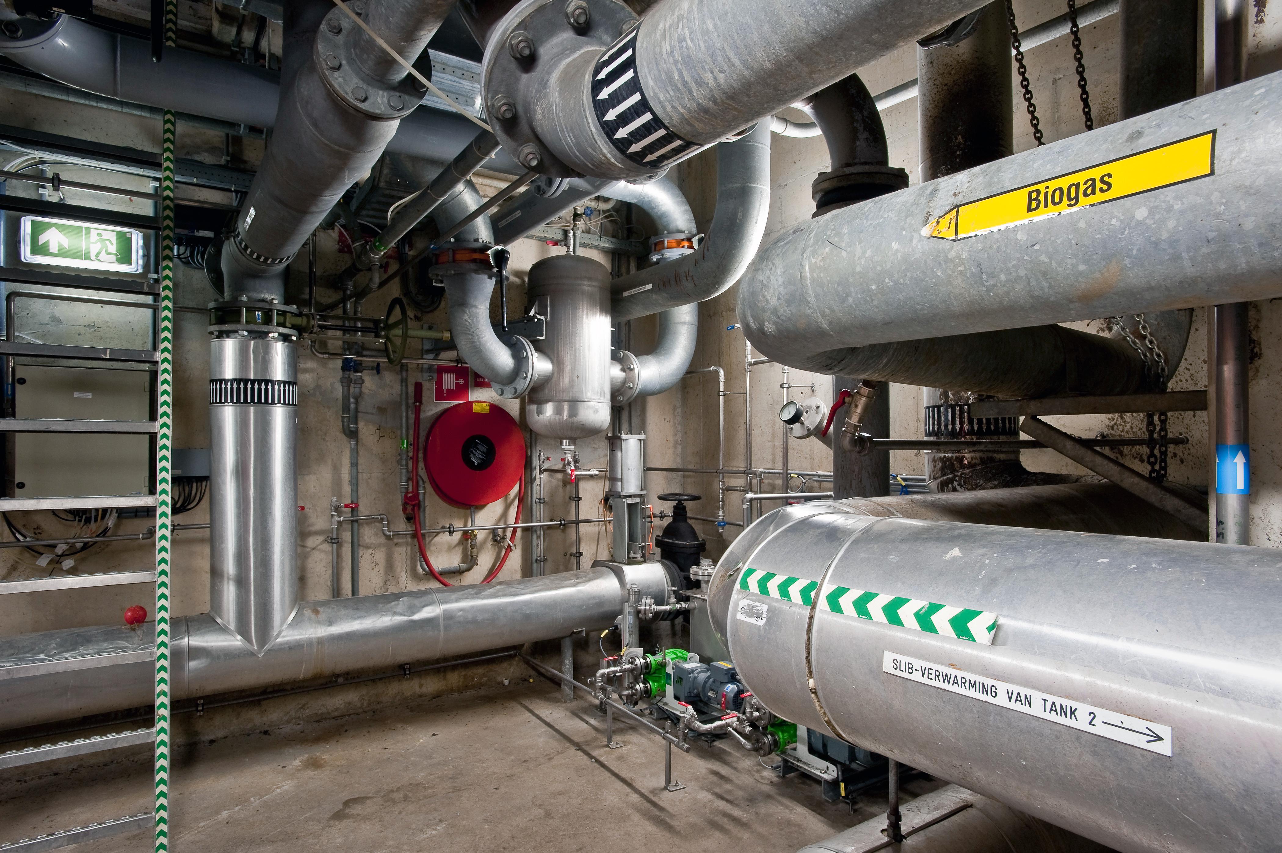 Energiefabriek - productieruimte biogas