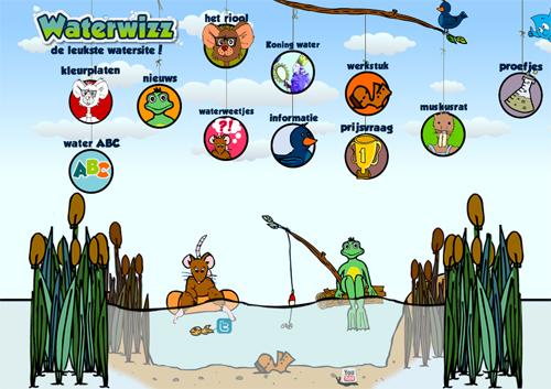 Afbeelding van homepage Waterwizz website