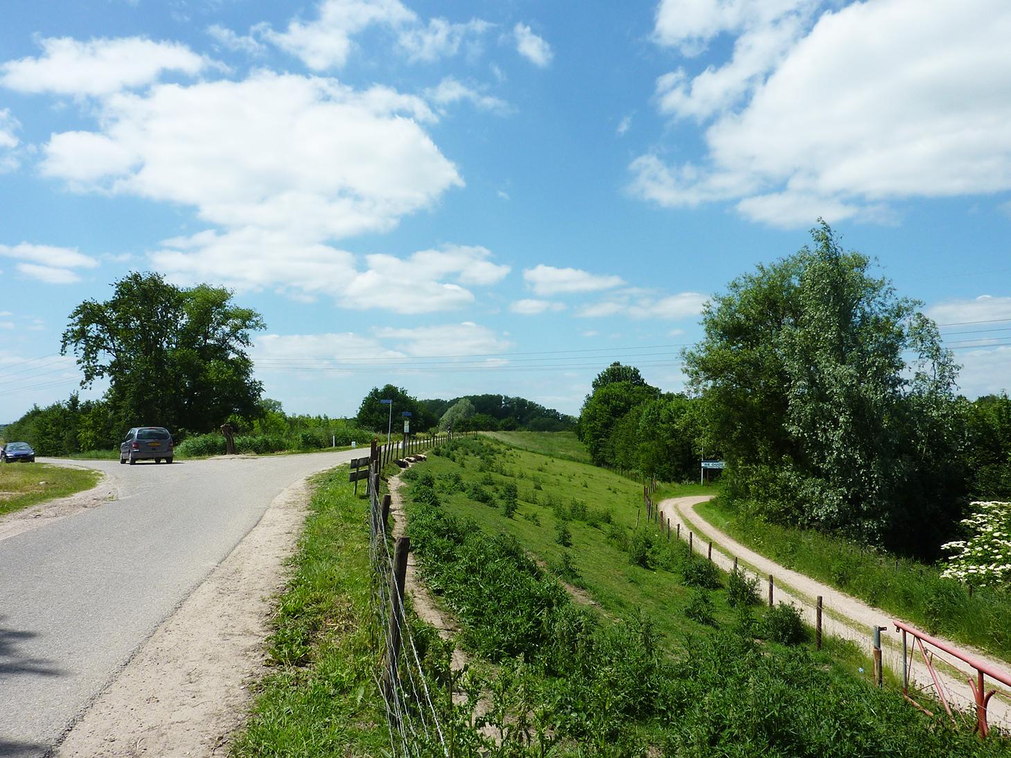 Maasdijk bij Empel, waterschap Aa en Maas