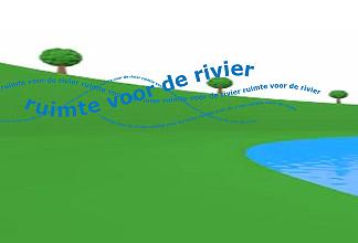 Ruimte voor de Rivier illustratie