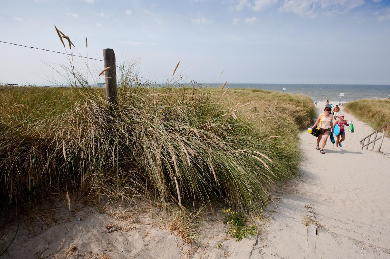 Een strandopgang bij Ter Heijde aan Zee