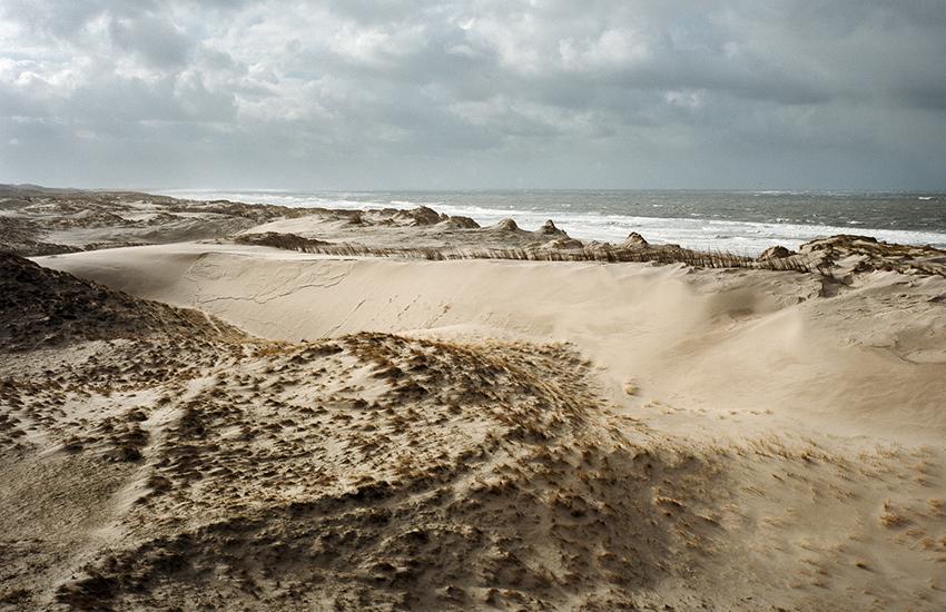 De duinen bij Julianadorp vlak na een storm.