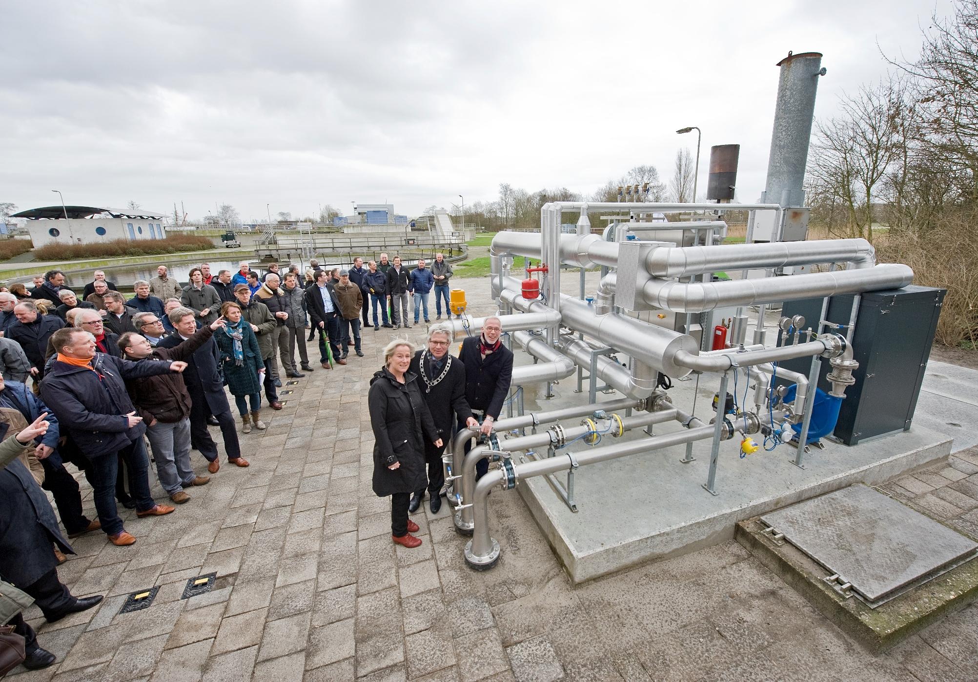 Opening biogasstation rioolwaterzuivering Leeuwarden