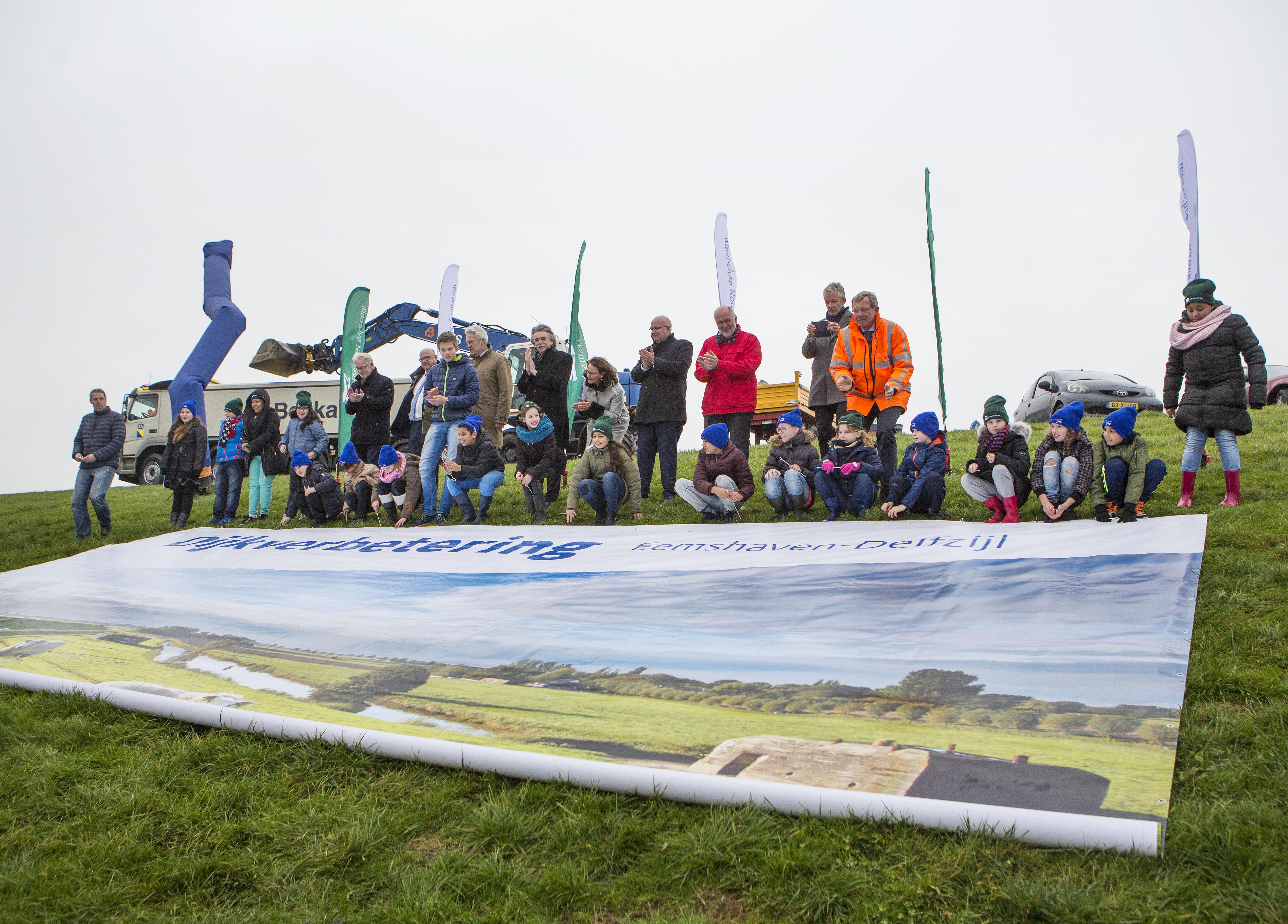 Startevenement dijkverbetering Eemshaven in Delfzijl