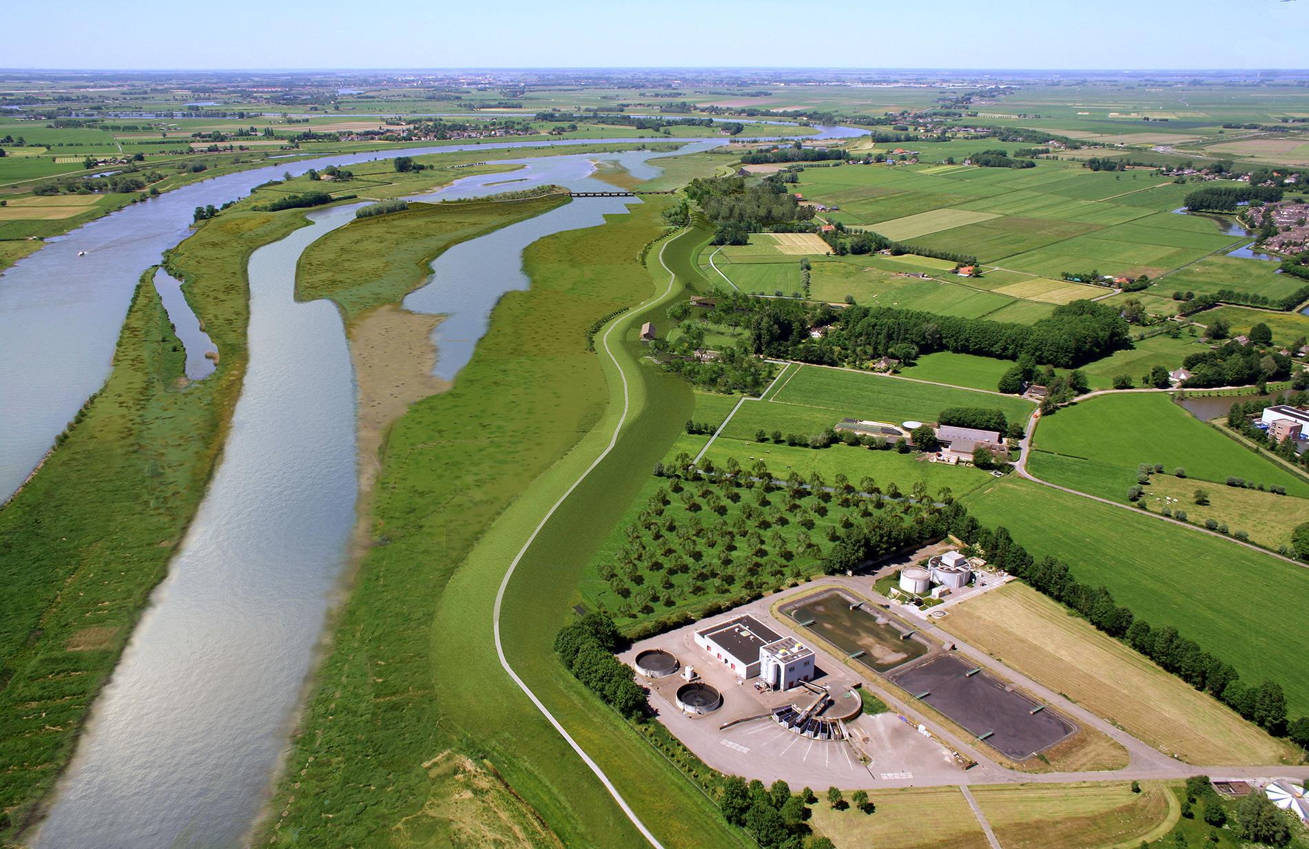 Luchtfoto van Ruimte voor de Rivier-project Zwolle
