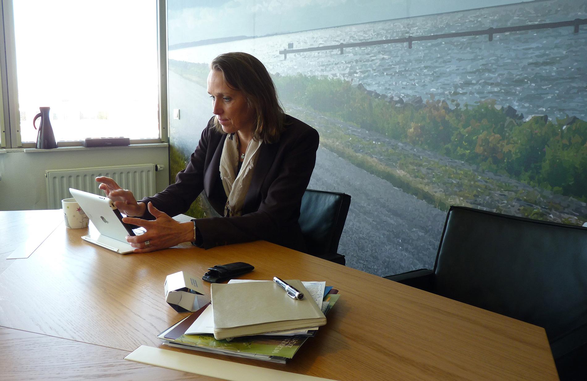 Hetty Klavers, dijkgraaf van waterschap Zuiderzeeland.